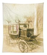 Horse Drawn Funeral Cart  Tapestry