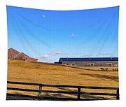 Horse Farm - Rising Moon Tapestry