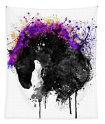 Horse Head Watercolor Silhouette Tapestry