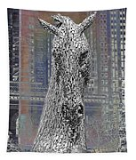 Horse In The City Tapestry