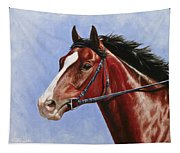Horse Painting - Determination Tapestry