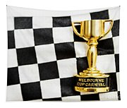Horse Races Trophy. Melbourne Cup Win Tapestry