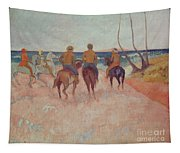 Horseman On The Beach Tapestry