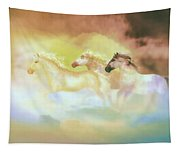 Horses In A Pearly Mist Tapestry