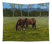 Horses Of Romance Tapestry