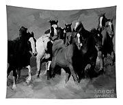 Horses Stampede 01 Tapestry