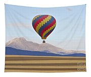 Hot Air Balloon And Longs Peak Tapestry