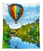 Hot Air Balloon Woodstock Vermont Pencil Tapestry
