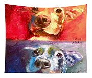 Hot Dog Chilly Dog Study Tapestry