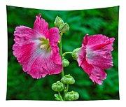 Hot Pink Hollyhock Tapestry