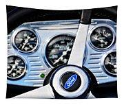 Hot Rod Ford Steering Wheel Tapestry