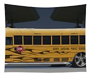 Hot Rod School Bus Tapestry