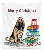Hounddog Christmas Tapestry