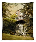 House On A Hill Tapestry