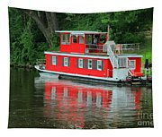 Houseboat On The Mississippi River Tapestry