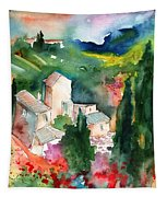 Houses In Montepulciano In Tuscany 01 Tapestry