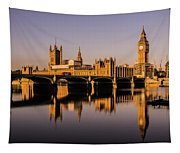 Houses Of Parliament With Westminster Bridge. Tapestry