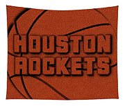 Houston Rockets Leather Art Tapestry