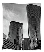 Houston Skyscrapers Black And White Tapestry