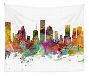 Houston Texas Skyline Panoramic Tapestry