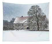 Hovdala Castle Main House In Winter Tapestry