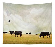 How Now Black Cow Tapestry