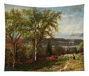 Hudson River At Croton Point Tapestry