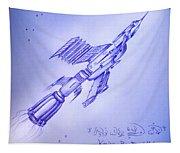 Huge Space Shuttle. In Antiworld Tapestry