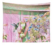 Hummingbird In The Garden Tapestry