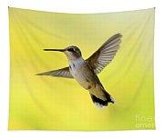 Hummingbird In Yellow Tapestry