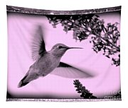 Hummingbird With Old-fashioned Frame 2  Tapestry
