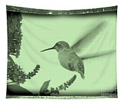 Hummingbird With Old-fashioned Frame 5 Tapestry