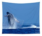 Humpback Whale Breaching Tapestry