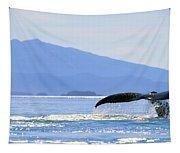 Humpback Whale Flukes Tapestry
