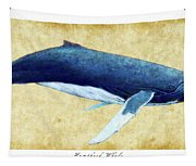 Humpback Whale Painting - Framed Tapestry
