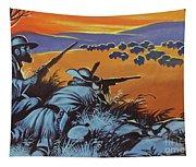 Hunting Buffalo In America Tapestry