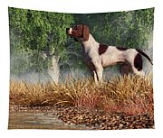 Hunting Dog By A River Tapestry