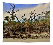 Hunting Island Driftwood Beach Beaufort Sc Tapestry