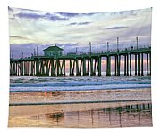 Huntington Beach Pier Panorama Colo Tapestry