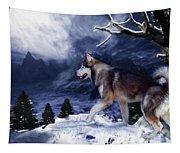 Husky - Mountain Spirit Tapestry