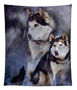 Husky - Night Spirit Tapestry