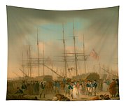Hussars Embarking At Deptford Tapestry
