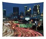 Hustle And Bustle Of Atlanta Roadways Tapestry