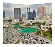 Hustle And Bustle On The Highways And Byways Tapestry