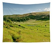 Hutton's Bog View. Holyrood Park. Tapestry