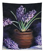 Hyacinths In A Pot Tapestry
