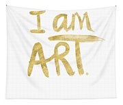 I Am Art Gold - Art By Linda Woods Tapestry