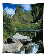 Iao Needle And Creek Tapestry