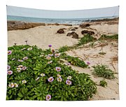 Ice Plant Booms On Pebble Beach Tapestry