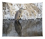 Iced Heron Tapestry